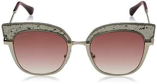 Jimmy Choo Damen Sonnenbrille Rosy/S FW 5RL, Gold (Light Mtt Gold/Burgundy Shaded), 51