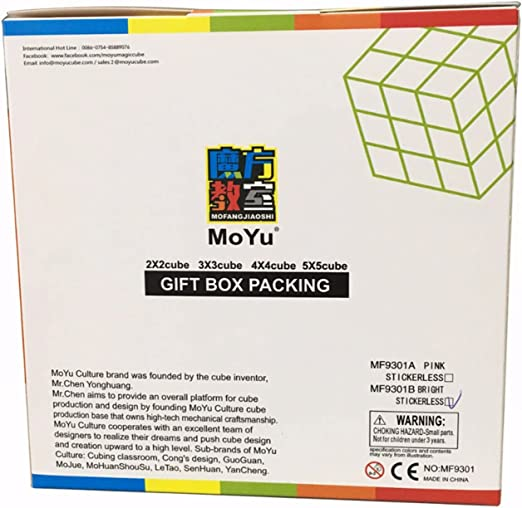 Set de 4 Cubos Competicion MoYu MF2 2x2 3x3 4x4 y 5x5 Gift Box Packing MF9301: Amazon.es: Juguetes y juegos