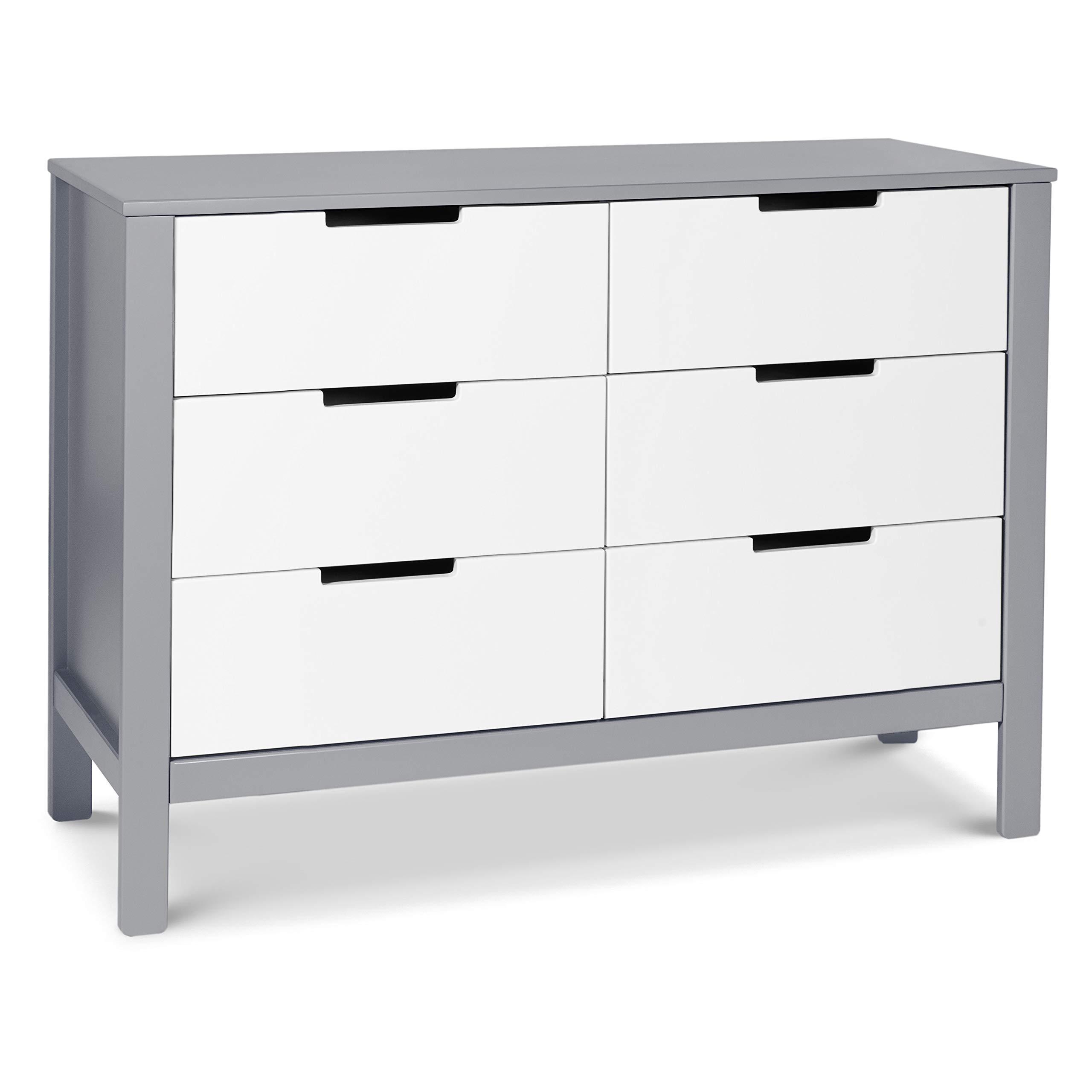 Carter's by Davinci Colby 6 Drawer Dresser, Gray and White by CARTER'S BY DAVINCI