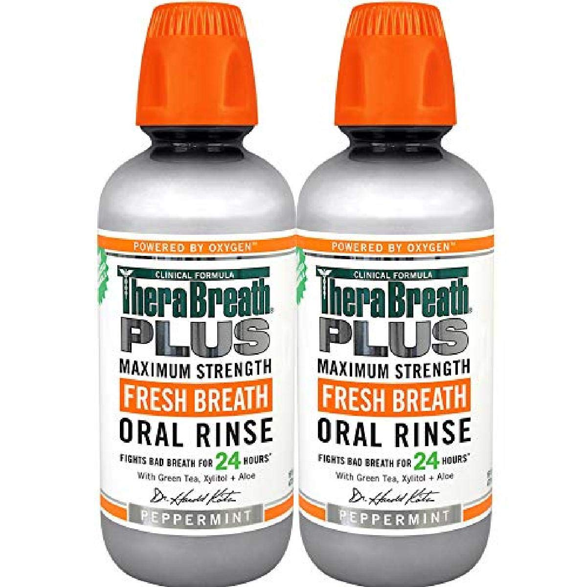 TheraBreath Plus MaximumStrength Oral Rinse Ounce Bottle, ⭐️ Exclusive, Fresh Mint Flavor, ⭐️ Exclusive, 32 Fl Oz