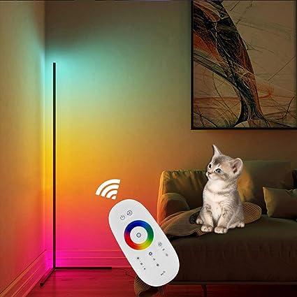 RGB DEL Stand Debout Lampe de travail Chambre Couloir couvertures de Variateur Télécommande