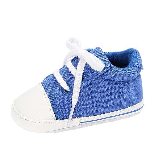 Zapatos para bebé Auxma Zapatillas de Lona para niños pequeños Zapatos de Prewalker para bebés Niños Anti Slip Soft Sole Trainer por 3-18 Meses: Amazon.es: ...