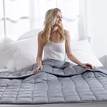 Waowoo Weighted Blanket for Kids and Adults (Dark Gery)