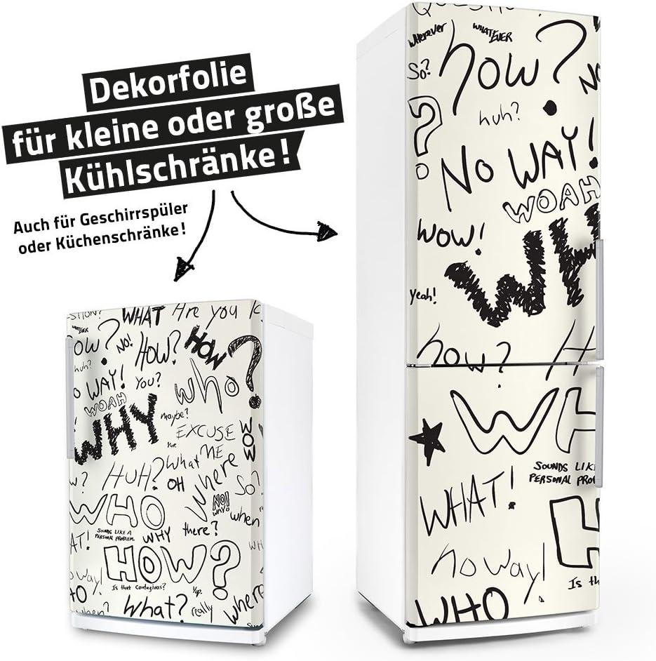 Geschirrsp/üler Folie Sticker Dekorfolie M/öbelfolie Klebefolie /& Sp/ülmaschinen-Aufkleber Question K/ühlschrank