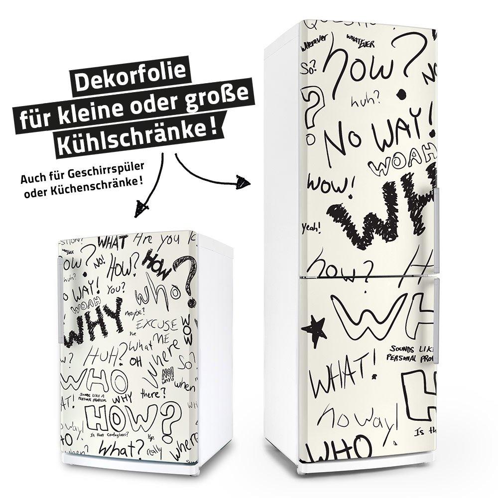 Kühlschrank- & Spülmaschinen-Aufkleber -- Question -- Geschirrspüler Folie Sticker Dekorfolie Möbelfolie Klebefolie posterdeluxe