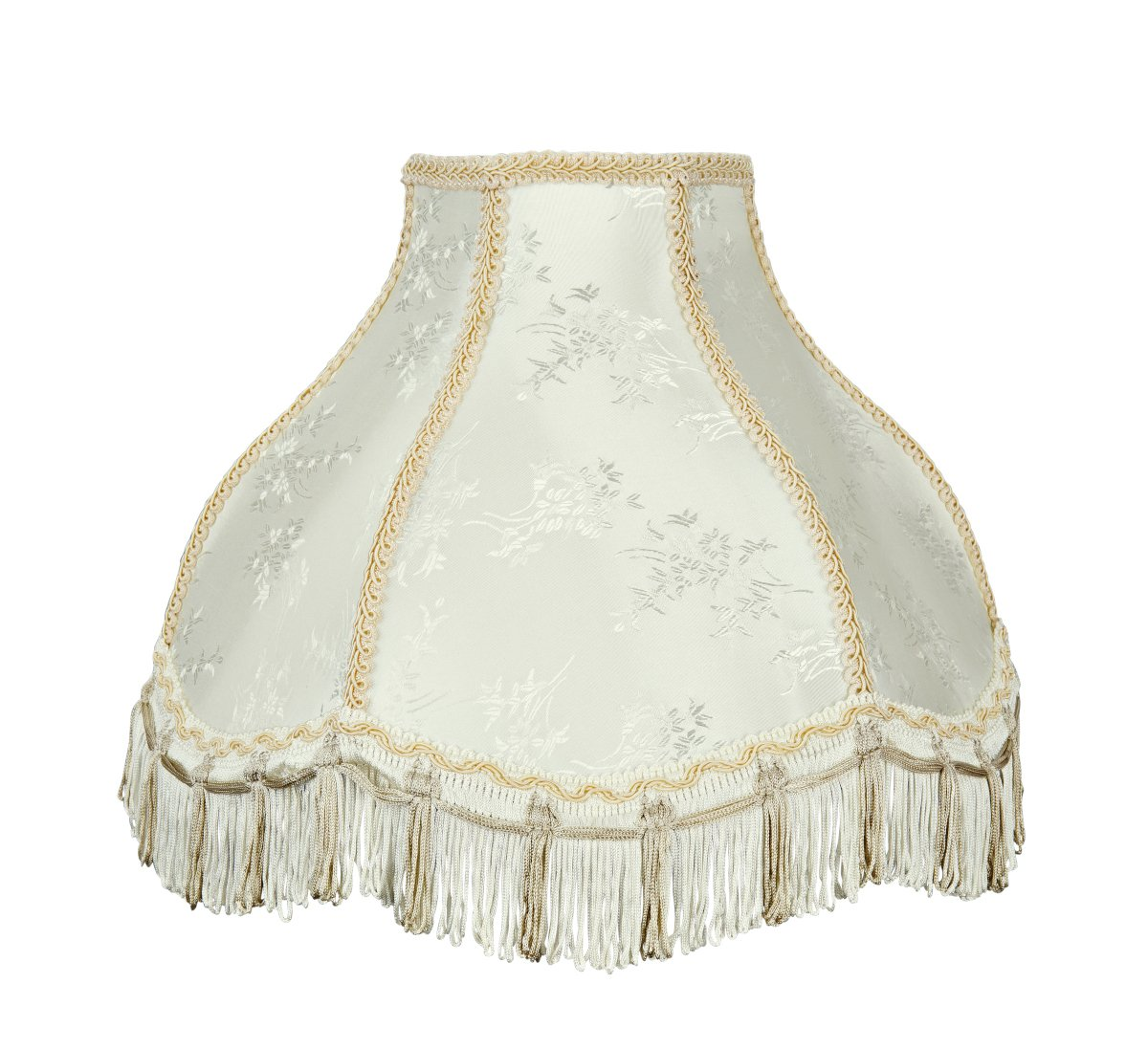 Aspen Creative 30331 Transitional Scallop Bell Shape Spider Construction Ivory, 13'' Wide (5'' x 13'' x 9 1/2'') Lamp Shade