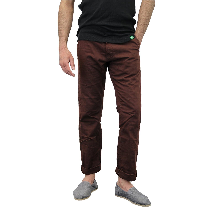 Zimaes-Men Standard-fit Baggy Straight Destroyed Denim Short Pants