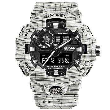 Blisfille Reloj Turbo Reloj de Quarzo Reloj Acero Hombre Azul Reloj Deporte de Mujer Reloj Digital Impermeable: Amazon.es: Deportes y aire libre