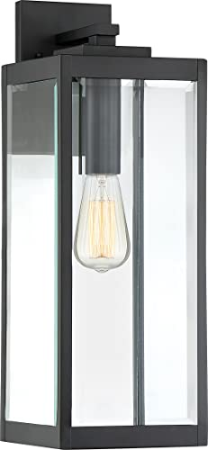 quoizel westover 20 outdoor wall lantern in earth black amazon co