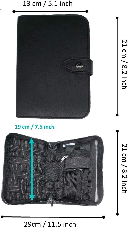 Organizer SCOLA - Premium Diabetes & Medication Travel Cooler Bag for Glucose Meter, Insulin, Test Strips, Keys, Credit Cards - Black: Health & Personal Care