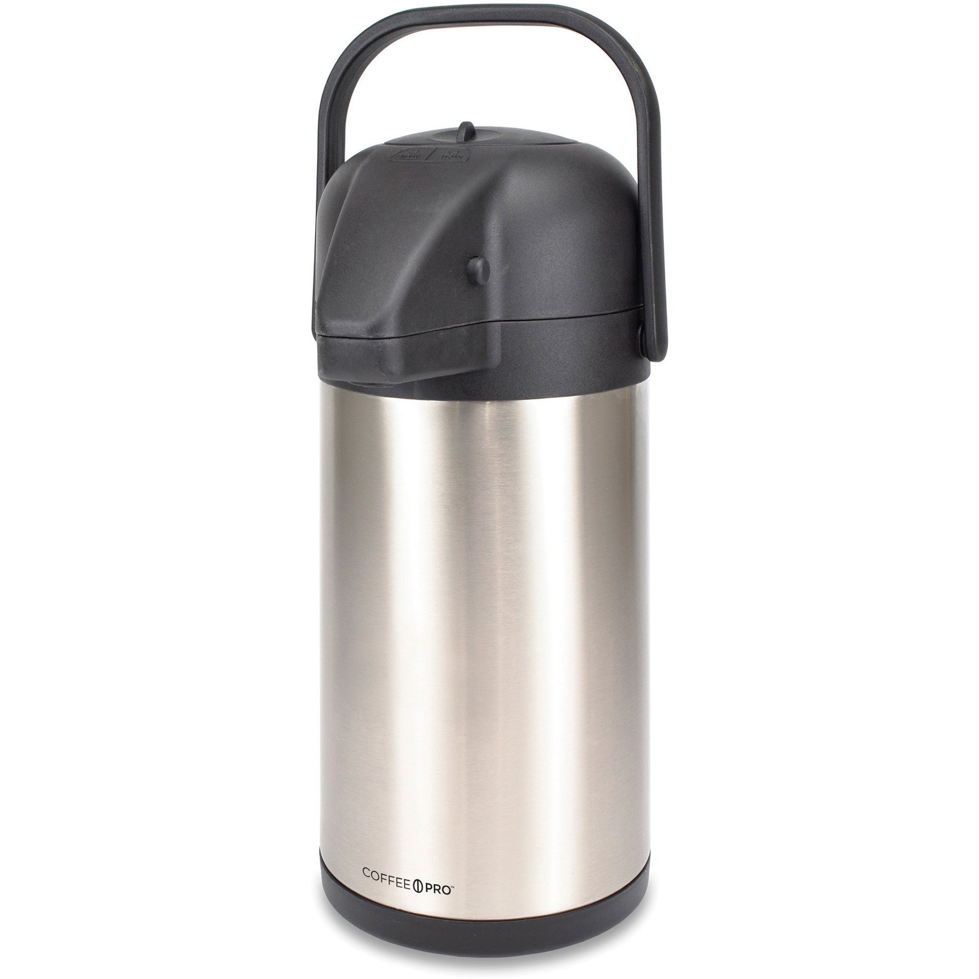 Coffee Pro CPAP22 Airpot, 2.2 Liter, 6''x8''x16', Stainless Steel