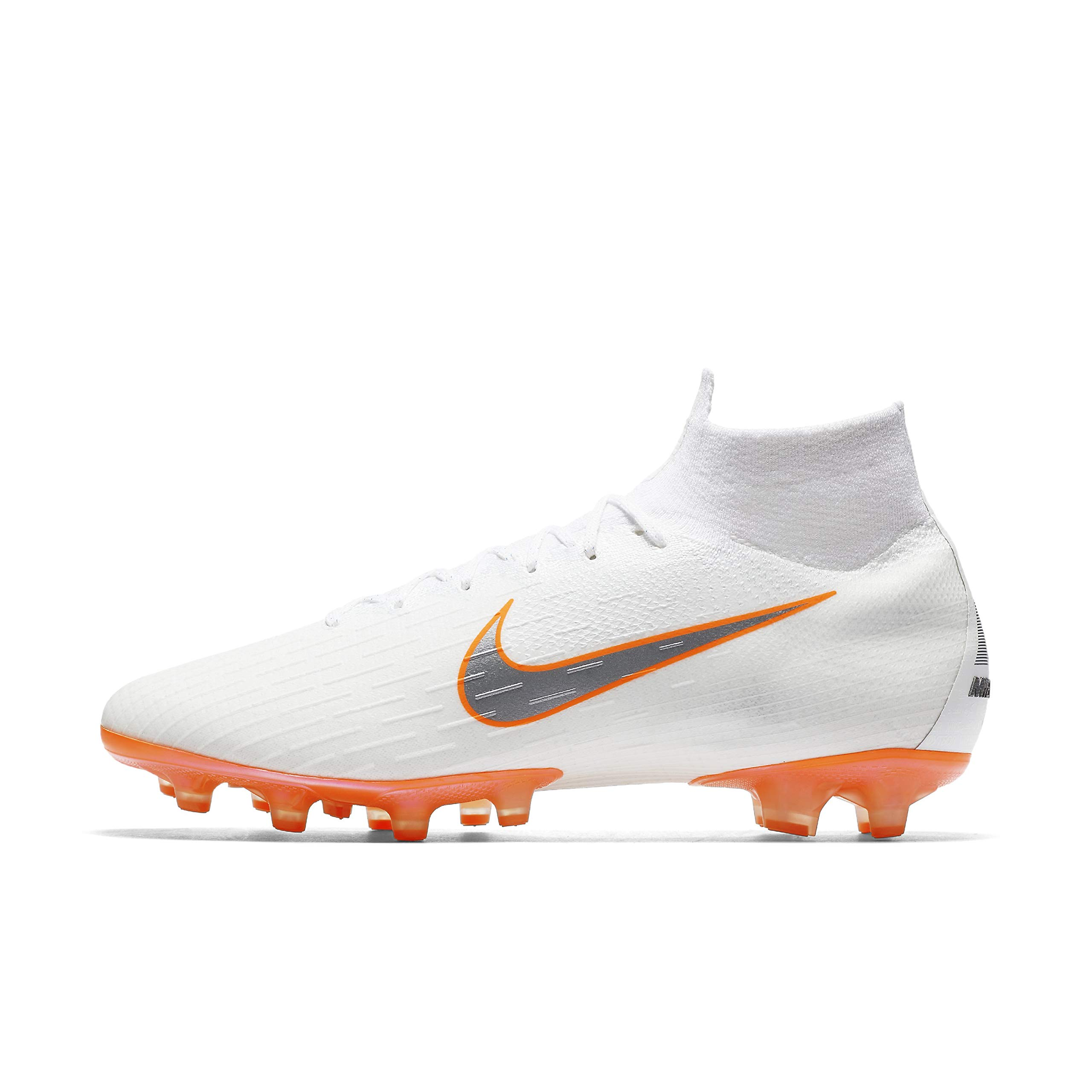 Nike Superfly 6 Elite AG Firm GroundCleats (11.5 D(M) US) White/Orange