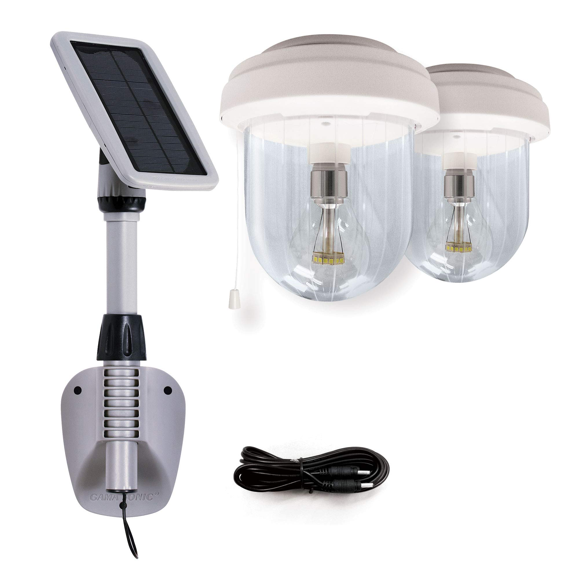 GAMA SONIC Light My Shed IV, 2 Solar Powered
