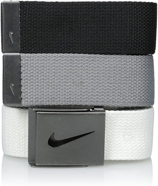 prioridad al límite Espejismo  Nike Men's 3 Pack Web, White/Gray/Black, One Size (3 Pack): Amazon.co.uk:  Sports & Outdoors