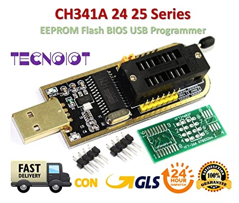 CH341A Series 24 25 SPI Routing LCD Flash Writer USB Programmer With Cables DIY