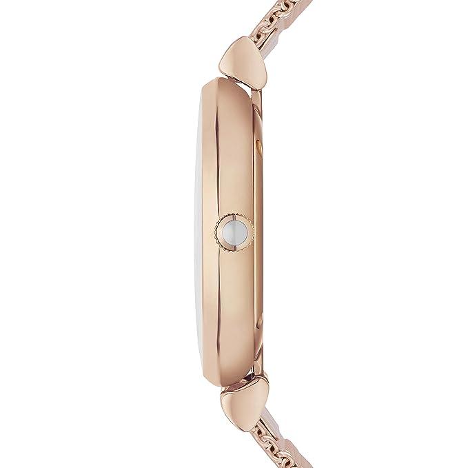 894587106052 Emporio Armani Gianni T-Bar - Reloj análogico de cuarzo con correa de chapada  en acero inoxidable para mujer