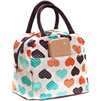 NYKKOLA Cute Love Heart Lunch Bag Tote Bag Lunch Organizer Lunch Holder Lunch Container