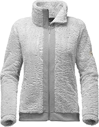 The North Face Women S Furry Fleece Full Zip Jacket High Rise Grey