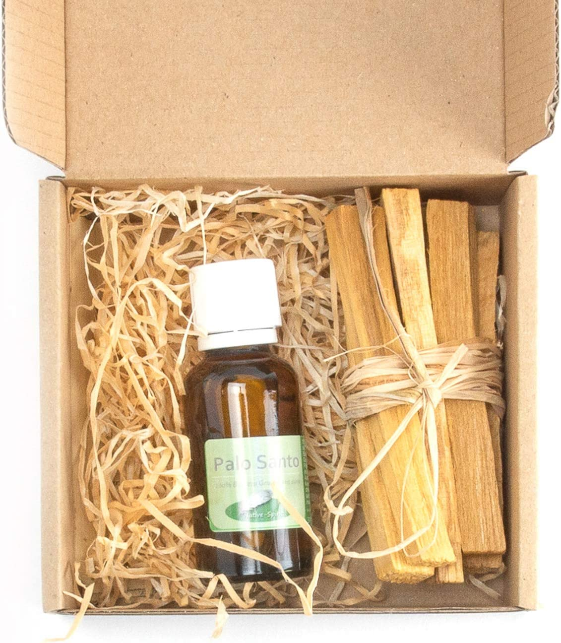 Paquete de bonificación de Palo Santo: aceite esencial de 30 ml + 6 madera de palo santo (9 x 1 x 1 cm, ~ 30 gr) + aceite esencial santo de palo, (destilado al vapor de Bursera graveolens) sostenible