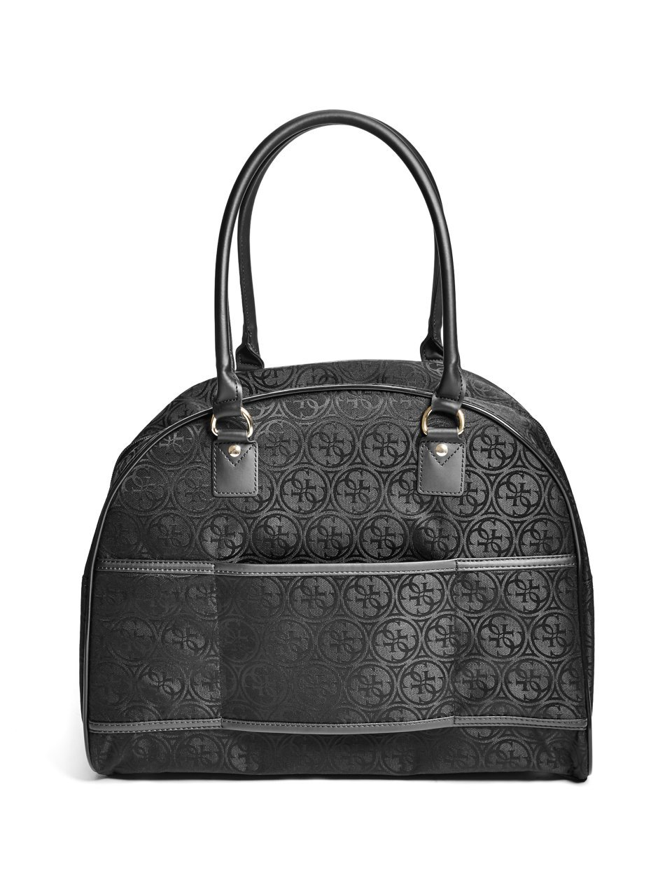 Guess Ryann Dome Travel Tote, Black, One Size