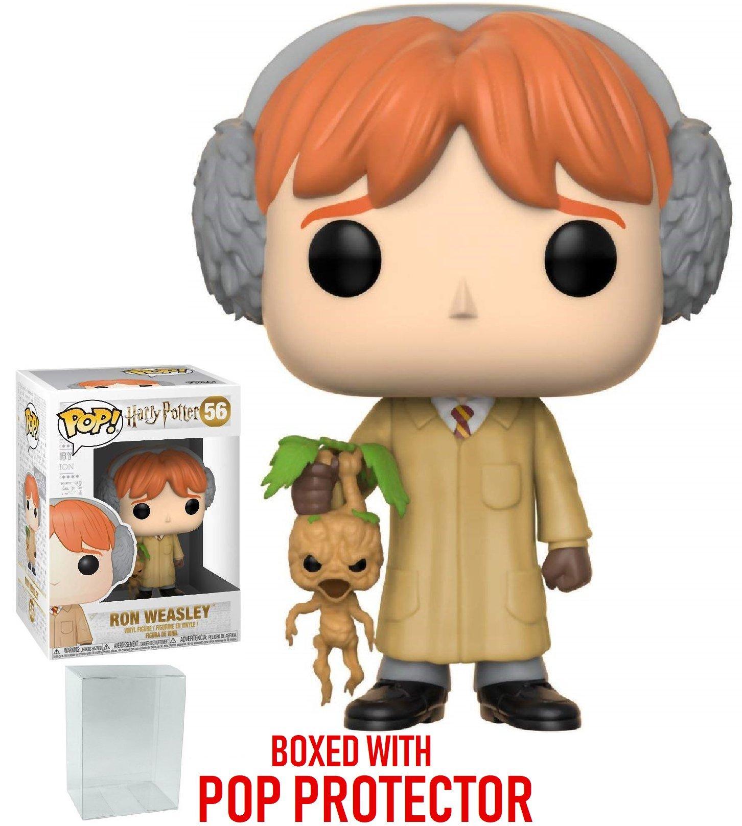 Funko Pop! Movies: Harry Potter - Ron Weasley (Herbology) Vinyl Figure (Bundled with Pop Box Protector Case)