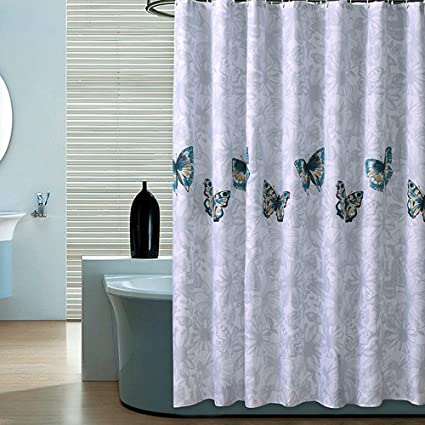 Amazon Riverbyland Shower Curtains Butterfly 72 X 80 Home