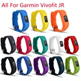 """ULT-unite Bands For Garmin vivofit JR, Replacement Wristband With Secure Clasps Garmin vivofit JR Only(No tracker, Replacement Bands Only. Fit 5.8""""-7.0"""" wrist)"""