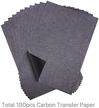 100 Pcs Carbon Paper Transfer Copy Sheets Graphite Tracing For Wood Canvas