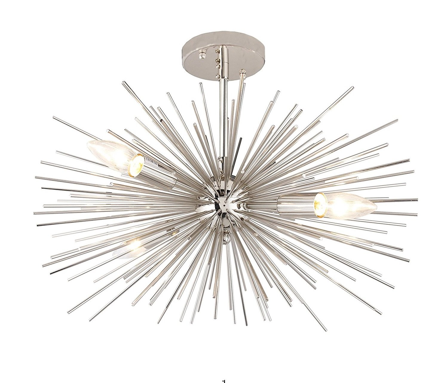 20 x 14 inch starburst chandelier astra sputnik light satellite ceiling light fixture flush mount light nickel chrome color