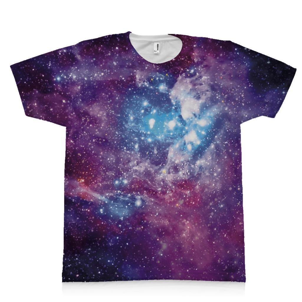 Amazon Custom Printed Galaxy Tee Shirt Clothing
