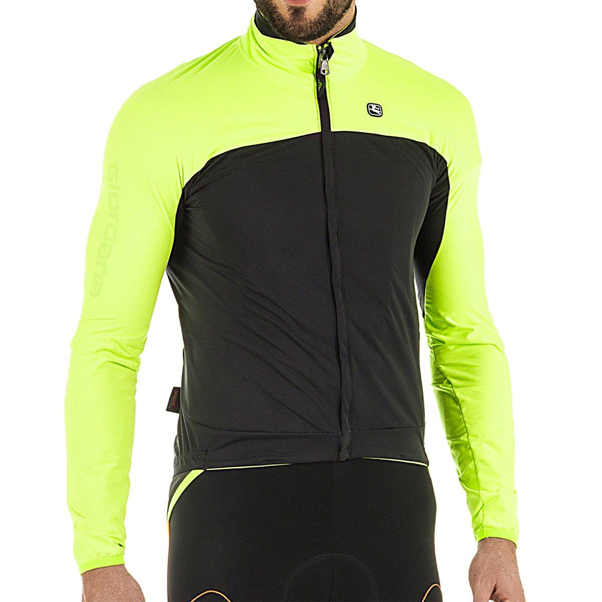 Giordana 2017 /18 Men 's Aqua Vento 100 h20サイクリングジャケット – gicw16-jckt-1h20 B076D87GCP 3L|Yellow Fluo/Black Yellow Fluo/Black 3L