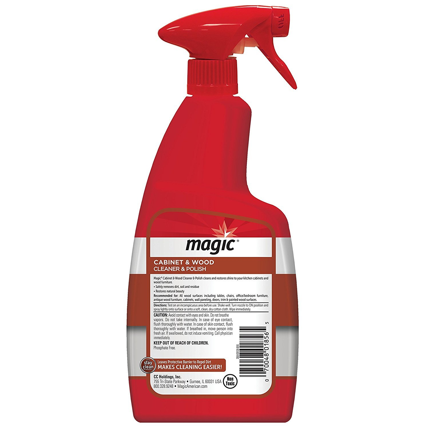Magic Wood Cleaner and Polish - 24 Ounce - Use As Wood Furniture Cleaner, Wood Cabinet Degreaser, Wood Table Restorer, Wood Conditioner and Polish by Magic American (Image #2)