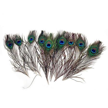 TININNA 50 pz 10-12 pollici naturale piume di pavone per la cappelli vestito di artigianale e sposa Party Costume accessorio