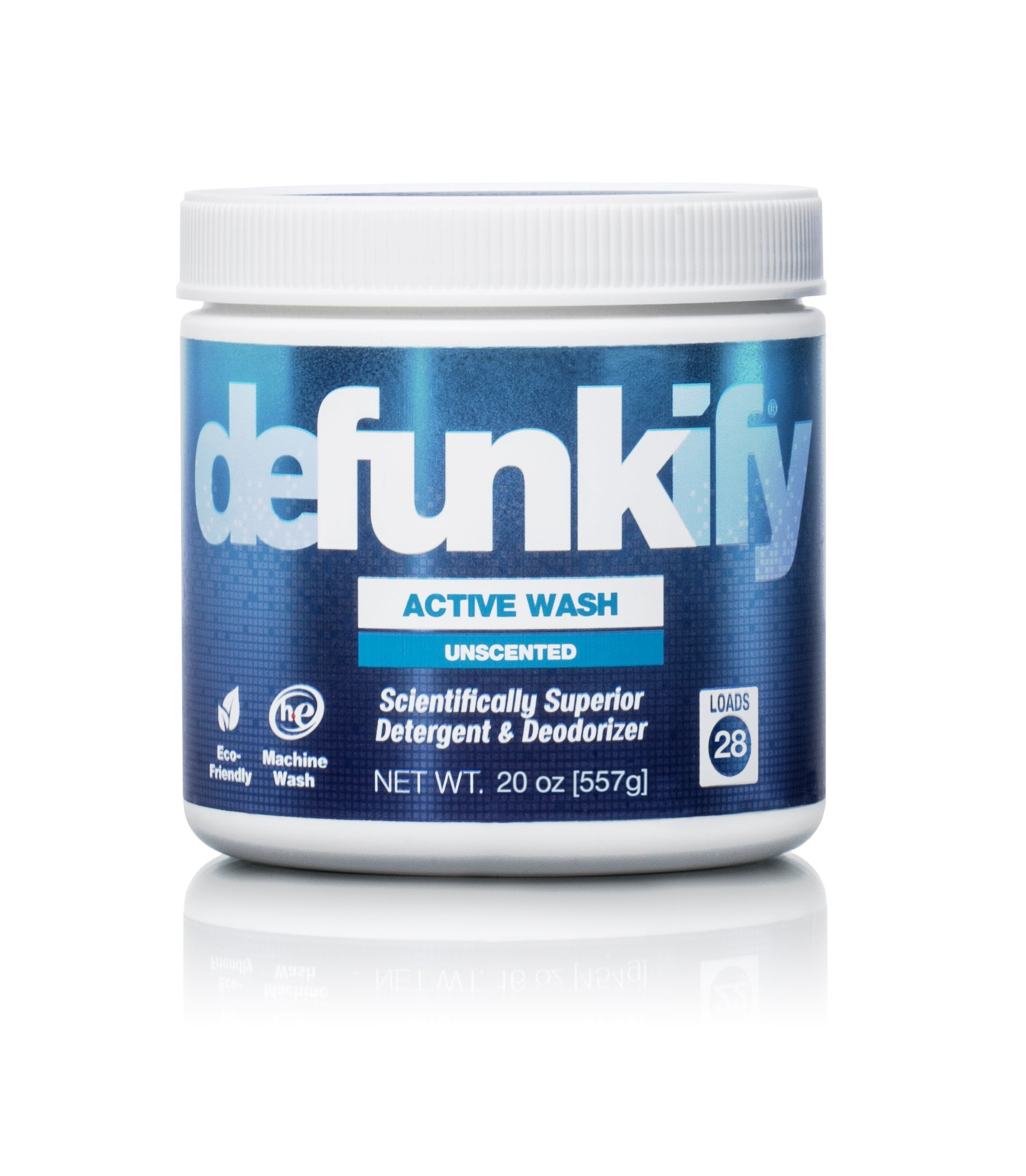 Defunkify ACTIVE WASH Laundry Detergent - Soap for Activewear, High Tech, Synthetic Fabrics, and all your other Laundry. Removes Odors and Stains from Sportswear. 20 oz. (28 Loads).