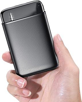 RIWNNI Mini Bateria Externa 10000mAh, Gran Capacidad Power Bank ...