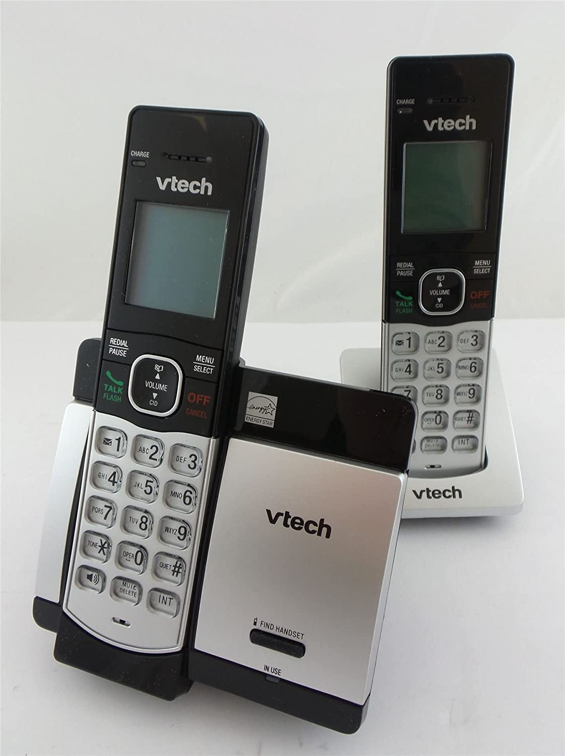 Amazon.com : VTech 2 Handset Cordless Phone System with Caller ID and Call Waiting CS5119-2 : Office Products