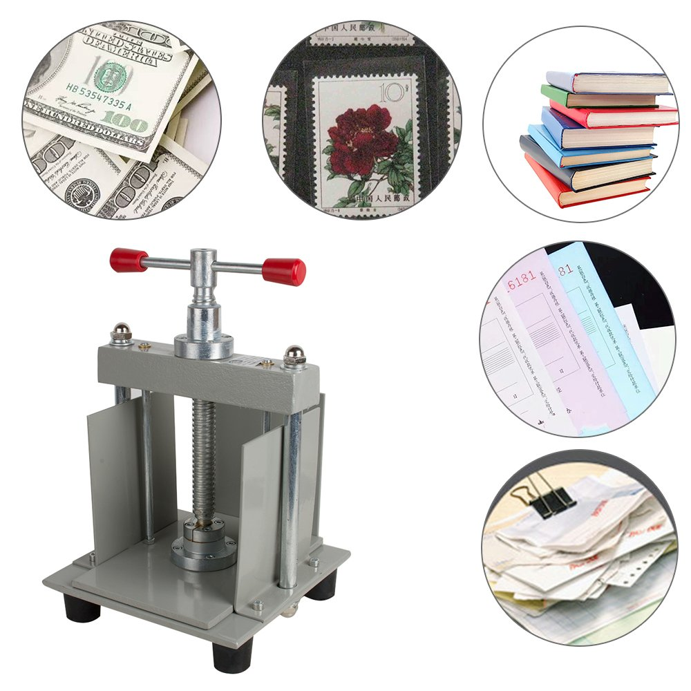 Tinsay A4 size Manual flat paper press machine for photo books, invoices, checks, booklets, Nipping machine