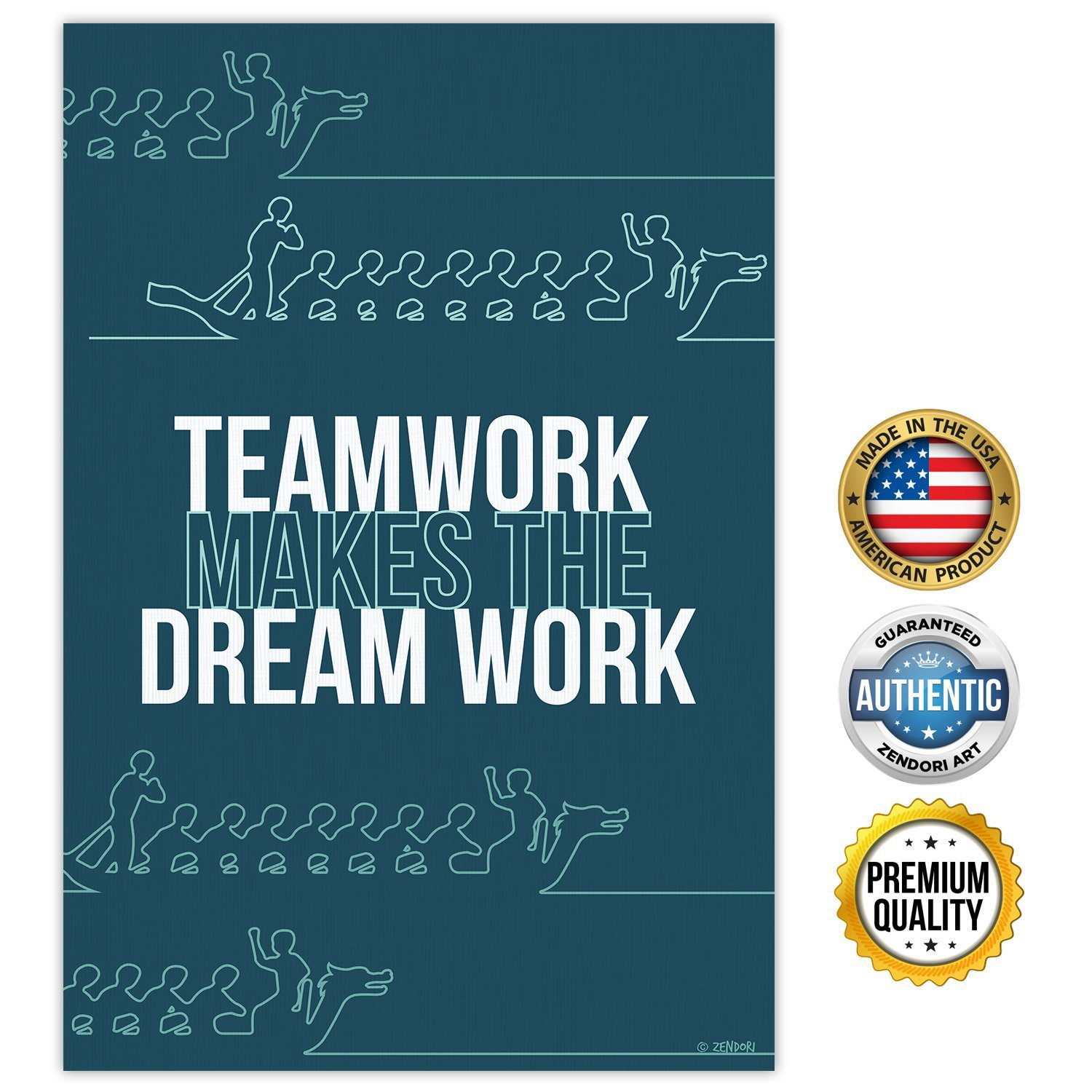 posters for office. Amazon.com: ZENDORI POSTER \u0027Teamwork Makes The Dream Work\u0027 Inspirational Poster For Office 12 X 18 (Blue): Posters \u0026 Prints