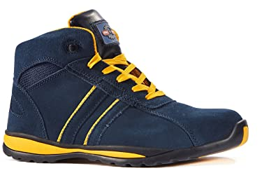 Rock Fall Pro Man Seattle S1P SRC Blue Yellow Steel Toe Cap Boxing Safety Boots (