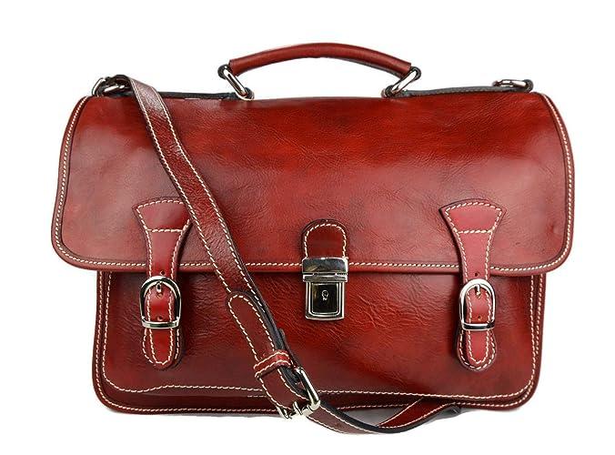 Carpeta de cuero bolso de hombre bolso de mujer mochila de piel bolso de cuero messenger