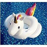 Ilishop Unicorn Inflatable Raft for Kids White