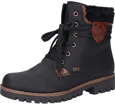 rieker damen boots tex gefüttert schwarz 41