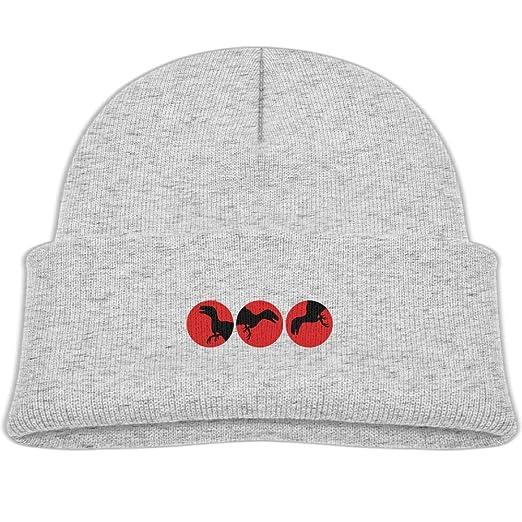 c7c90d83963 3 Raptor T-Rex Circle Moon Sun Logos Knitted Hat Soft Fleece Beanie Caps  Girl