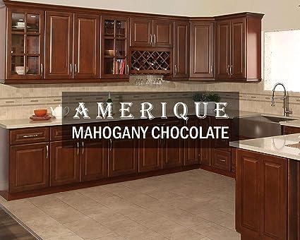 amazon com amerique 691322309317 luxury mahogany chocolate vanity rh amazon com Cabinet Face Frame Sizes Face Frame Cabinet Door Hinges