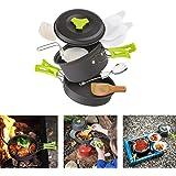 Cozywind Utensilios de Cocina para Camping para 1-2 Personas, Juego de Olla para Acampada y Senderismo, Portátil y…