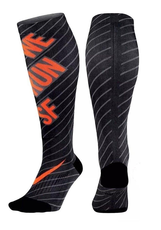 Nike Elite Digital Ink ''WE RUN'' San Francisco Marathon Running Sock Sx4990 900 Sz 6-7.5