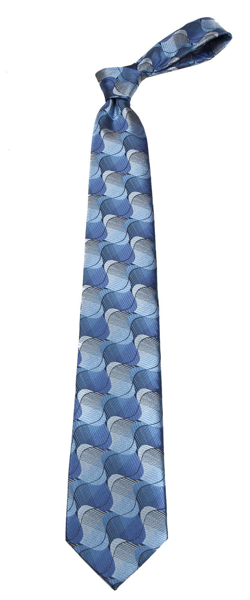 B-11697 - Boys Youth Blue Pattern Designer Necktie Ties