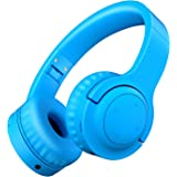 Picun Kids Bluetooth Headphones, 35 Hrs Playtime Foldable Stereo Kids Wireless Headphones with Type-C Fast Charge and Built-in Microphone for Phones/Pad Tables/PC, 2020 Upgraded Model E3 Blue
