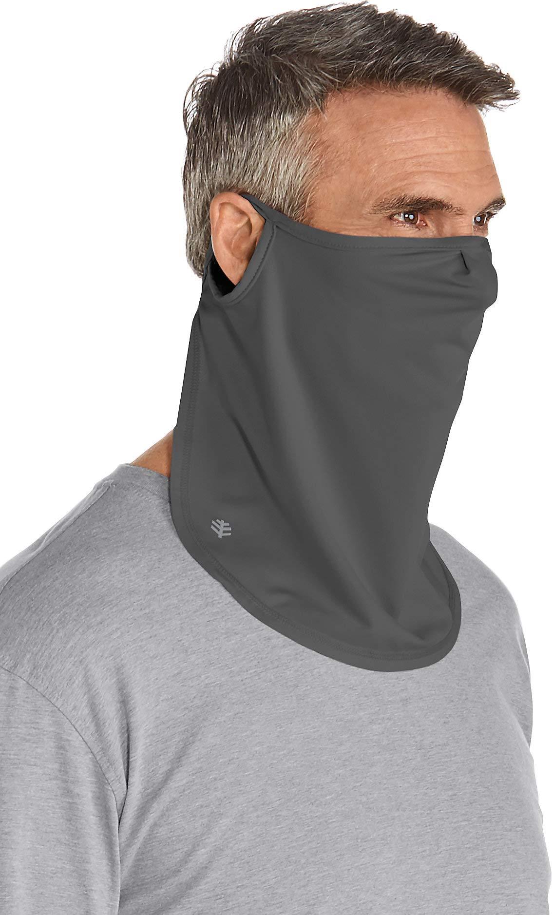 Coolibar UPF 50+ Unisex UV Face Mask - Sun Protective (Small/Medium- Charcoal)