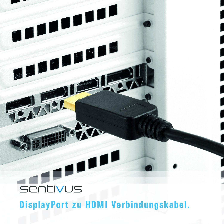 Sentivus 3m Premium DisplayPort auf HDMI Adapter-Kabel: Amazon.de ...